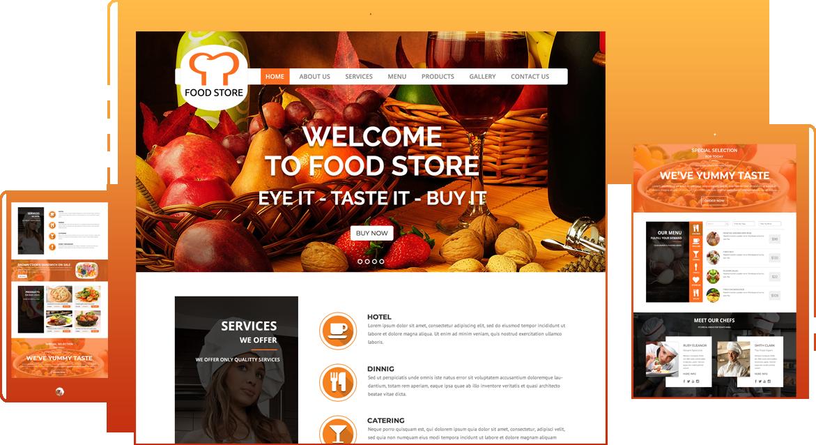 Food Restaurant WordPress Theme