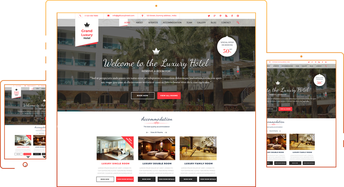 Free Hotel Resort Wordpress Theme - Logical Themes