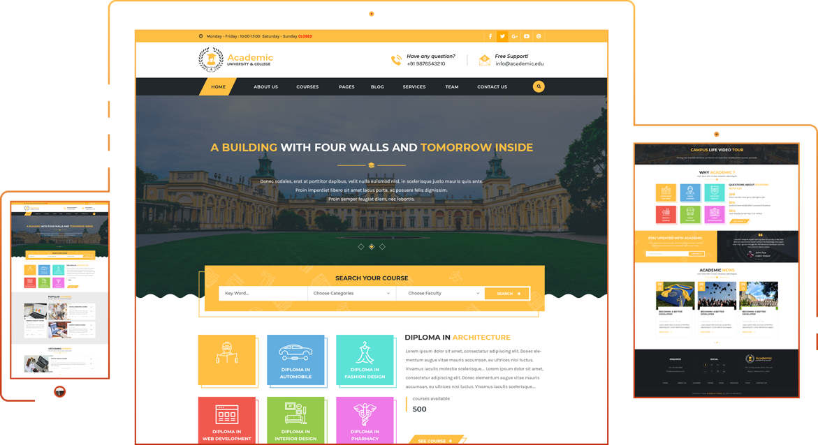 The best academic education wordpress theme and template for What wordpress template is this
