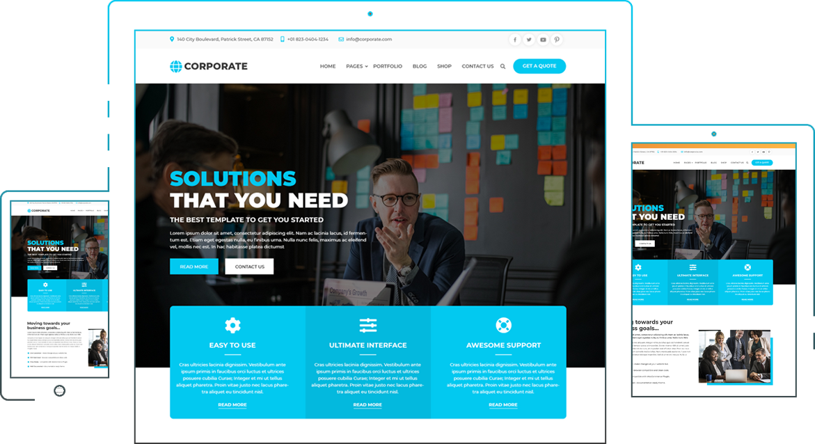 A Stunning Free Corporate Wordpress Theme For Businesses